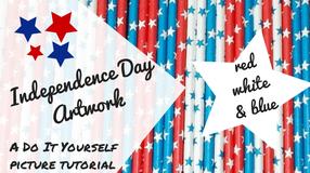 patriotic artwork project tutorial picture walkthru