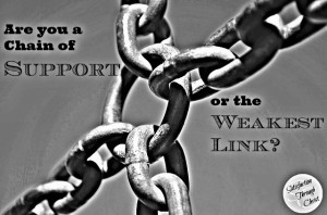 Chain of Support? Or Weakest Link?   Satisfaction Through Christ