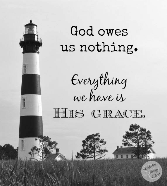 How do we learn to be content? By realizing that God owes us nothing. Everything we have is His grace. --Learning to be Content at Satisfaction Through Christ