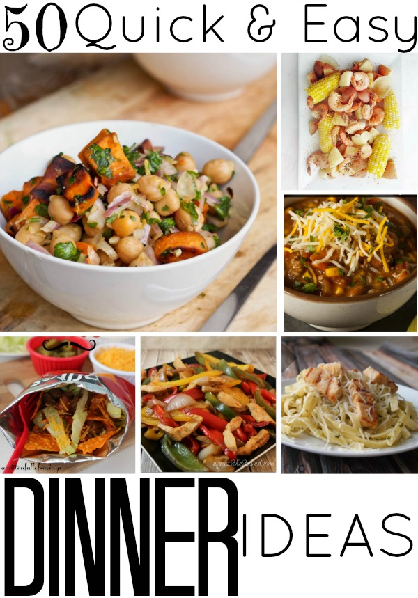 50 quick and easy dinner ideas satisfaction through christ for Dinner ideas for two quick and easy