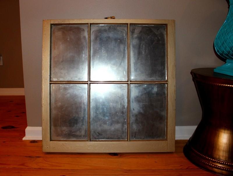 Finished DIY antique window mirror | Satisfaction Through Christ