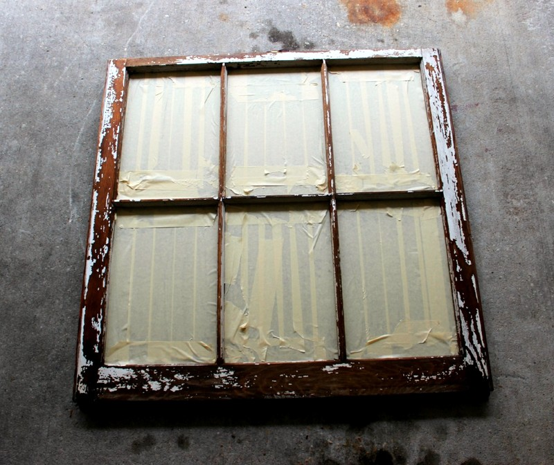 do it yourself old window pane into decorative antiqued mirror   Satisfaction Through Christ
