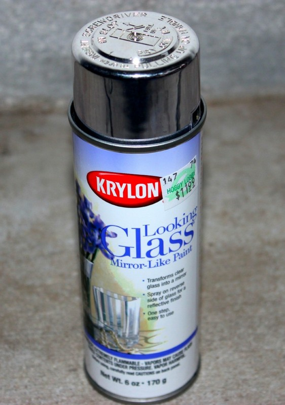 glass look spray paint for old window DIY project | Satisfaction Through Christ