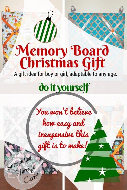 Memory board christmas gift do it yourself