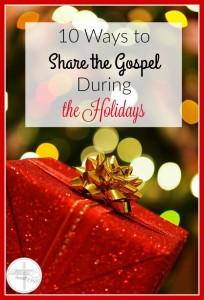 share gospel during holidays