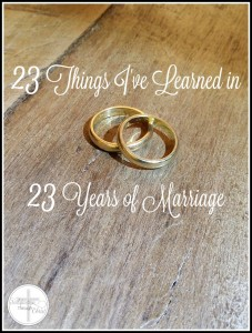 23 years of marriage