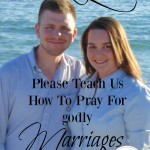 We need to learn how to pray for godly marriages. God has given us instructions in His word on how to pray. Let's seek His face and pray for godly marriage.